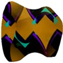 Geometric Gradient Psychedelic Velour Head Support Cushion View3