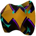 Geometric Gradient Psychedelic Velour Head Support Cushion View4