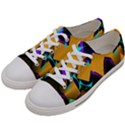 Geometric Gradient Psychedelic Women s Low Top Canvas Sneakers View2