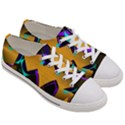 Geometric Gradient Psychedelic Women s Low Top Canvas Sneakers View3
