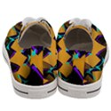 Geometric Gradient Psychedelic Women s Low Top Canvas Sneakers View4