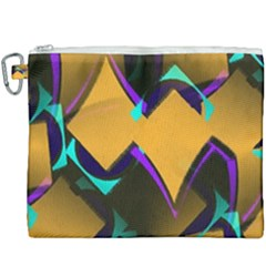 Geometric Gradient Psychedelic Canvas Cosmetic Bag (xxxl)