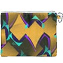 Geometric Gradient Psychedelic Canvas Cosmetic Bag (XXXL) View2
