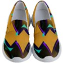 Geometric Gradient Psychedelic Kids  Lightweight Slip Ons View1