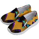 Geometric Gradient Psychedelic Kids  Lightweight Slip Ons View2