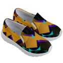Geometric Gradient Psychedelic Kids  Lightweight Slip Ons View3