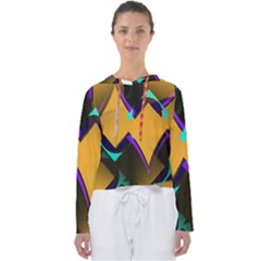 Geometric Gradient Psychedelic Women s Slouchy Sweat