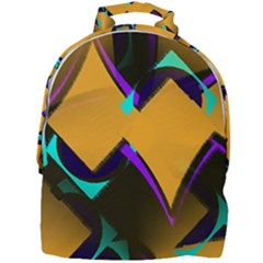 Geometric Gradient Psychedelic Mini Full Print Backpack