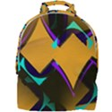 Geometric Gradient Psychedelic Mini Full Print Backpack View1