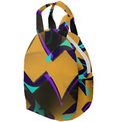 Geometric Gradient Psychedelic Travel Backpacks