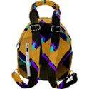 Geometric Gradient Psychedelic Travel Backpacks View2