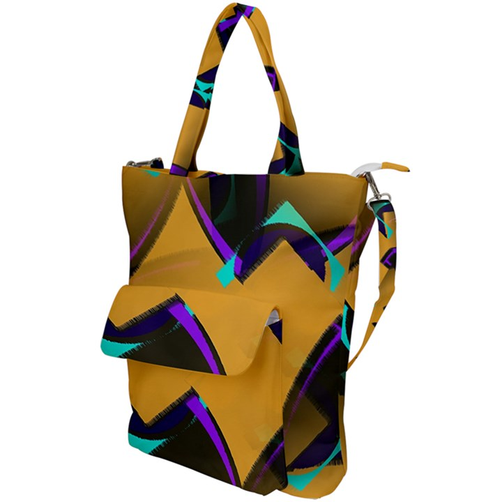 Geometric Gradient Psychedelic Shoulder Tote Bag