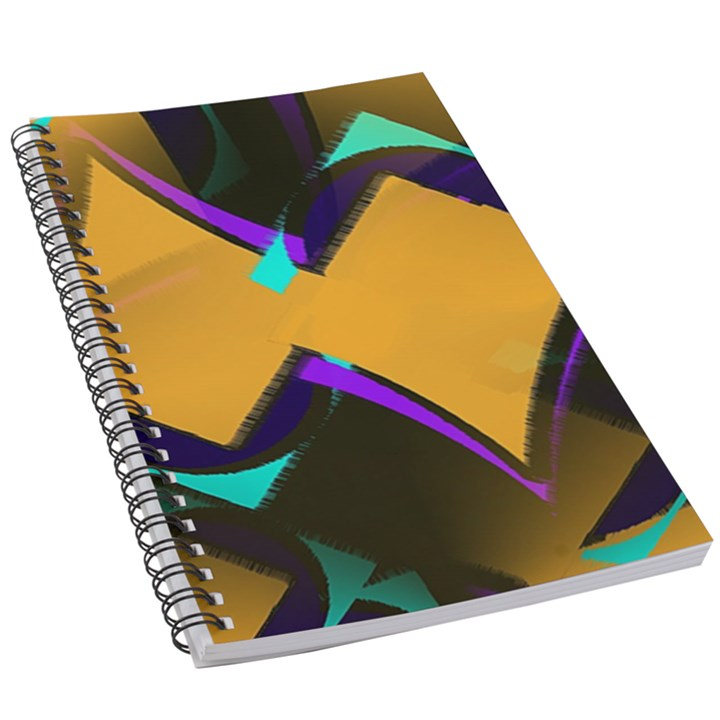 Geometric Gradient Psychedelic 5.5  x 8.5  Notebook