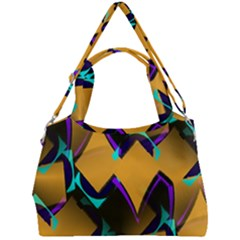Geometric Gradient Psychedelic Double Compartment Shoulder Bag by HermanTelo