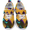 Geometric Gradient Psychedelic Kids  Velcro Strap Shoes View1