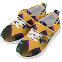Geometric Gradient Psychedelic Kids  Velcro Strap Shoes View2