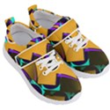 Geometric Gradient Psychedelic Kids  Velcro Strap Shoes View3