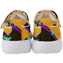 Geometric Gradient Psychedelic Kids  Velcro Strap Shoes View4