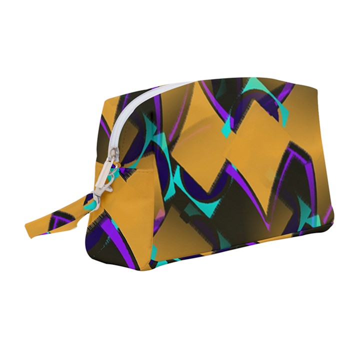 Geometric Gradient Psychedelic Wristlet Pouch Bag (Medium)