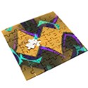 Geometric Gradient Psychedelic Wooden Puzzle Square View3