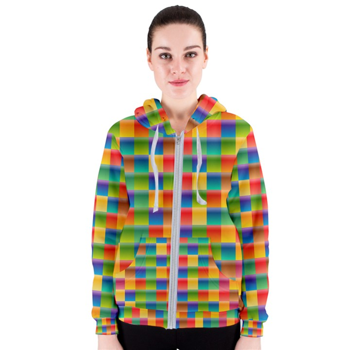 Background Colorful Abstract Women s Zipper Hoodie