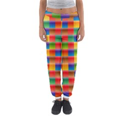 Background Colorful Abstract Women s Jogger Sweatpants