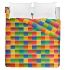 Background Colorful Abstract Duvet Cover Double Side (queen Size)