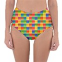Background Colorful Abstract Reversible High-Waist Bikini Bottoms View1
