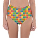 Background Colorful Abstract Reversible High-Waist Bikini Bottoms View3