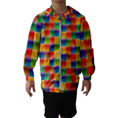 Background Colorful Abstract Kids  Hooded Windbreaker