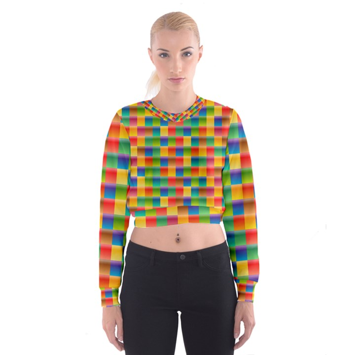 Background Colorful Abstract Cropped Sweatshirt