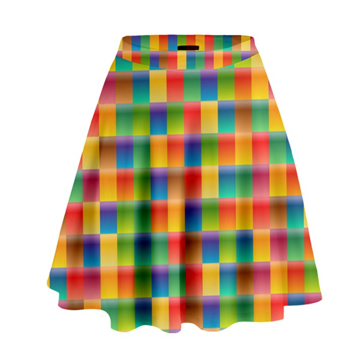 Background Colorful Abstract High Waist Skirt