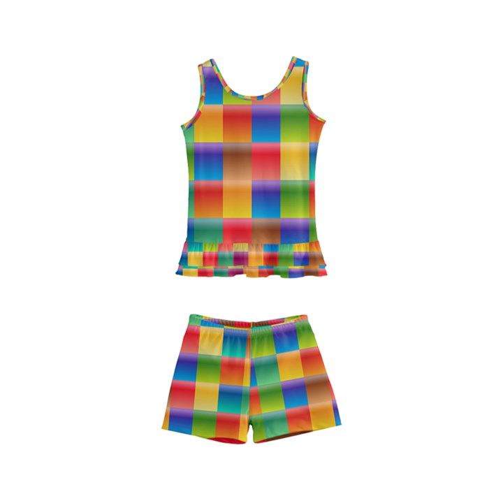 Background Colorful Abstract Kids  Boyleg Swimsuit