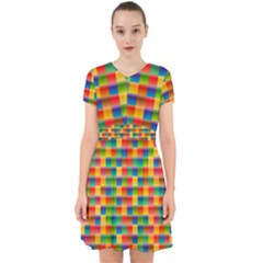 Background Colorful Abstract Adorable In Chiffon Dress