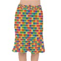 Background Colorful Abstract Short Mermaid Skirt View1