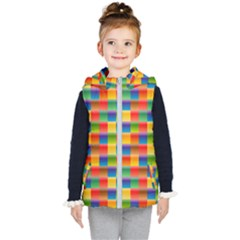 Background Colorful Abstract Kids  Hooded Puffer Vest