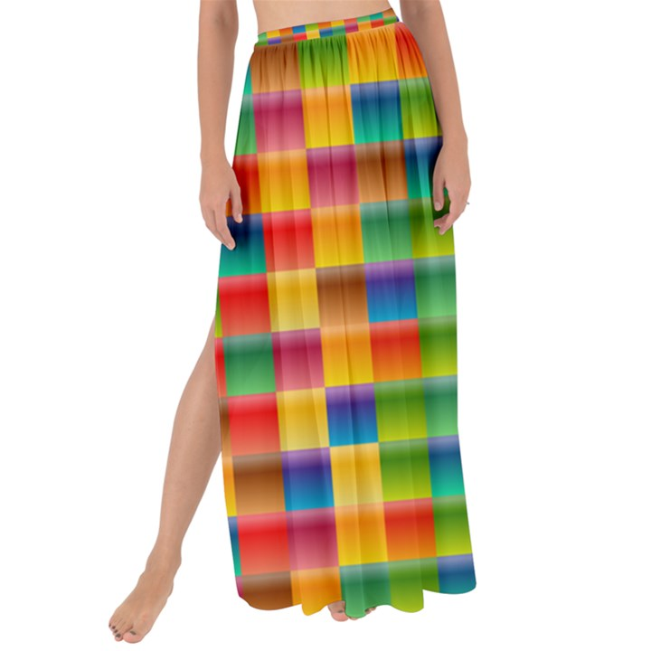 Background Colorful Abstract Maxi Chiffon Tie-Up Sarong