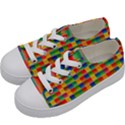 Background Colorful Abstract Kids  Low Top Canvas Sneakers View2