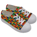 Background Colorful Abstract Kids  Low Top Canvas Sneakers View3