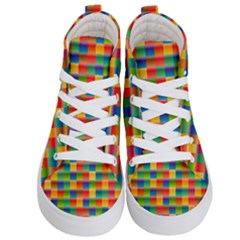 Background Colorful Abstract Kids  Hi Top Skate Sneakers