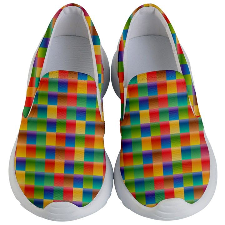 Background Colorful Abstract Kids  Lightweight Slip Ons