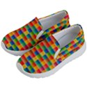 Background Colorful Abstract Kids  Lightweight Slip Ons View2