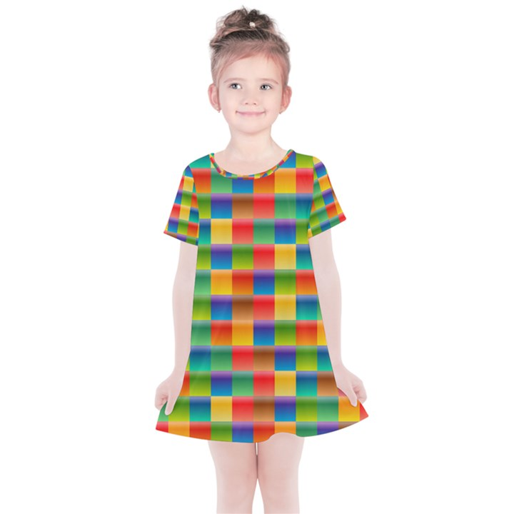 Background Colorful Abstract Kids  Simple Cotton Dress