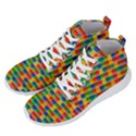 Background Colorful Abstract Men s Lightweight High Top Sneakers View2