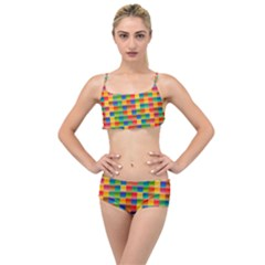 Background Colorful Abstract Layered Top Bikini Set