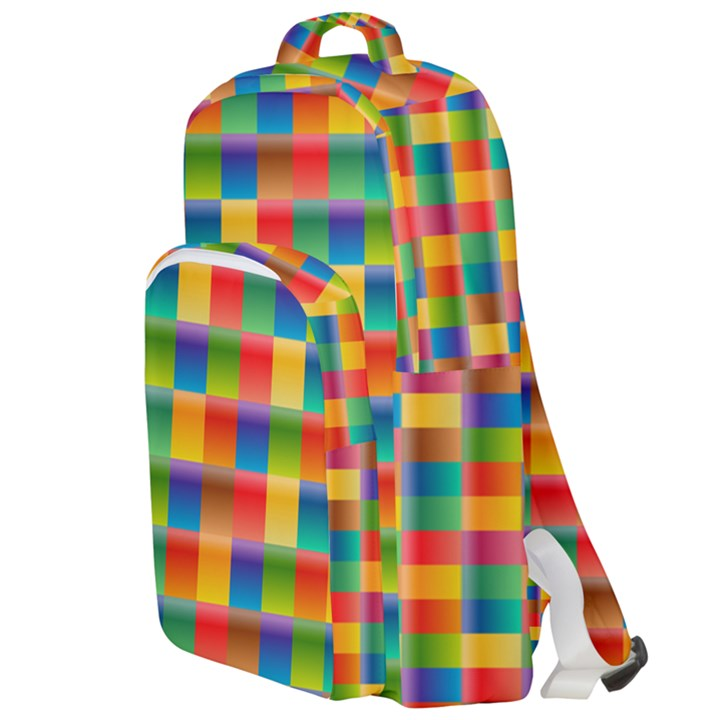 Background Colorful Abstract Double Compartment Backpack