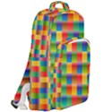 Background Colorful Abstract Double Compartment Backpack View2