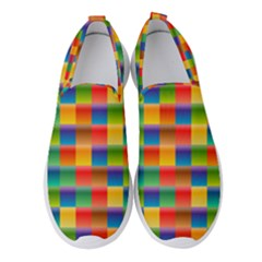 Background Colorful Abstract Women s Slip On Sneakers