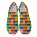 Background Colorful Abstract Women s Slip On Sneakers View1