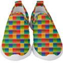 Background Colorful Abstract Kids  Slip On Sneakers View1